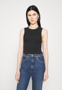 Abrand Jeans - HEATHER SINGLET - Top - black sea - 0