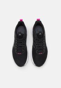 adidas Performance - FLUIDSTREET - Sportschoenen - core black/iron metallic/screaming pink - 3