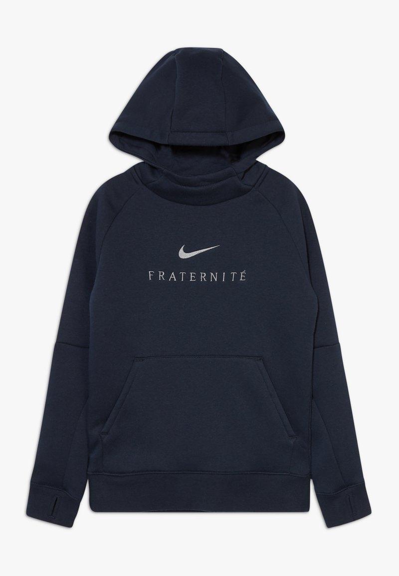 Nike Performance - FRANKREICH FFF HOOD - Oblečení národního týmu - dark obsidian