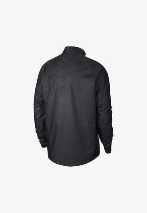 NIEDERLANDE ACADEMY HERREN-FUSSBALLJACKE - Kurtka sportowa - black/black/black/safety orange