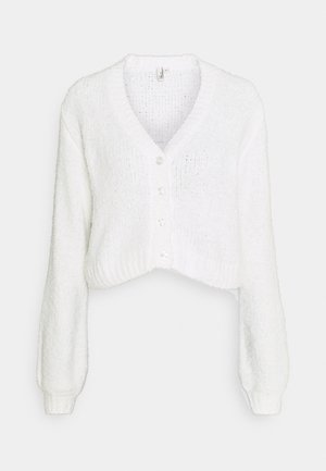 CROPPED FUZZY  - Cardigan - white