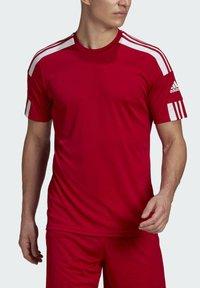 adidas Performance - SQUAD 21 - T-shirts print - team power red/white - 2