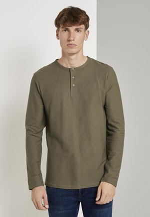 Long sleeved top - dry greyish olive