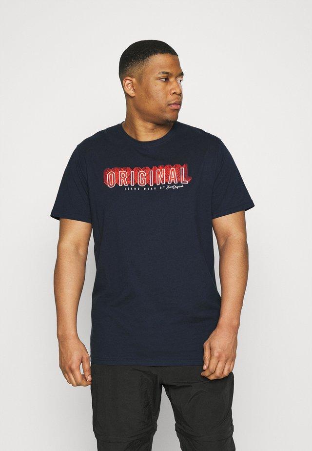 PATCH POCKET TEE - T-shirt print - dark blue