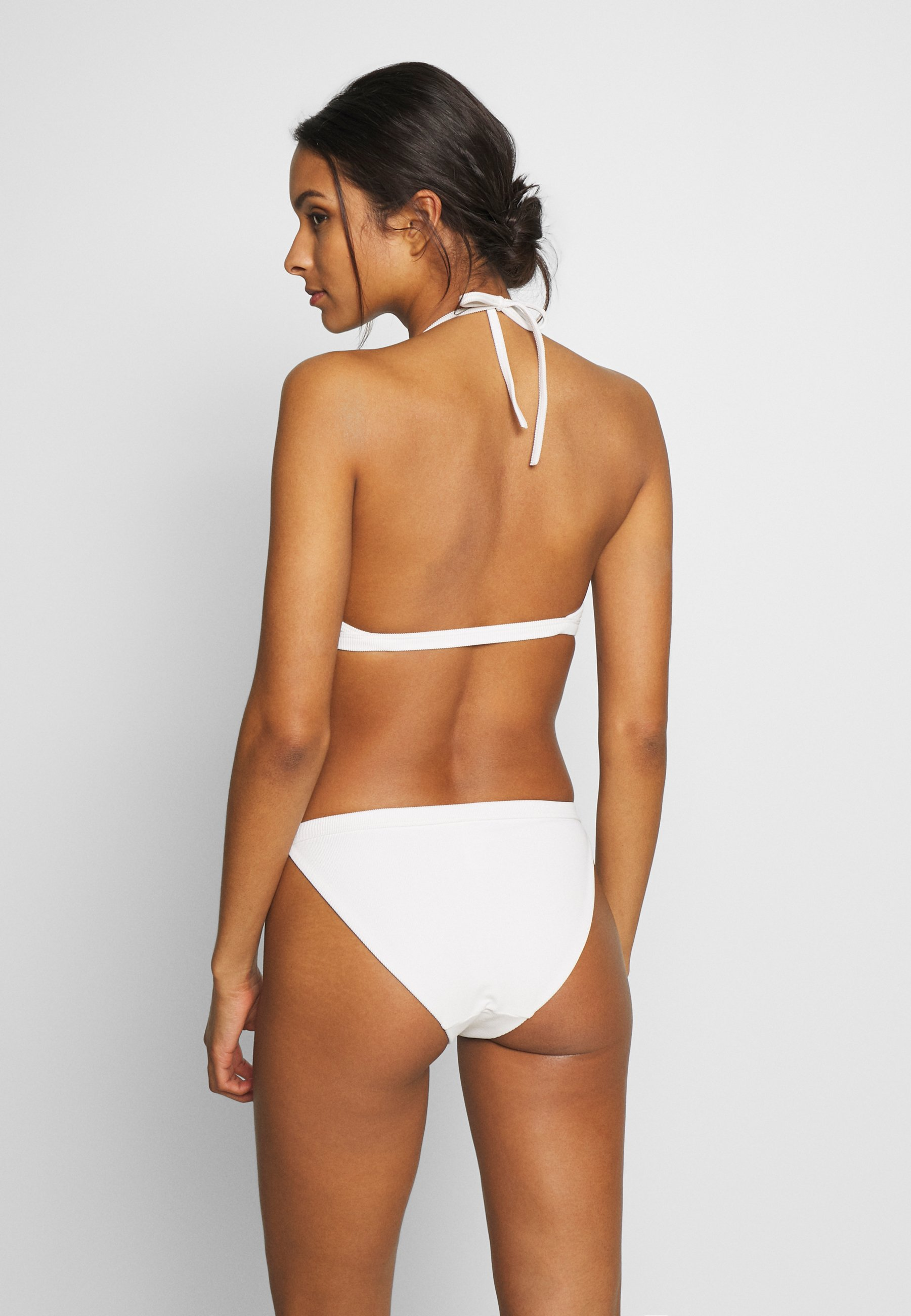Weekday FARAWAY RIBBED SWIM TOP Bikinitopp white