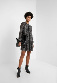 MICHAEL Michael Kors - CHEETAH  - Shirt dress - gunmetal