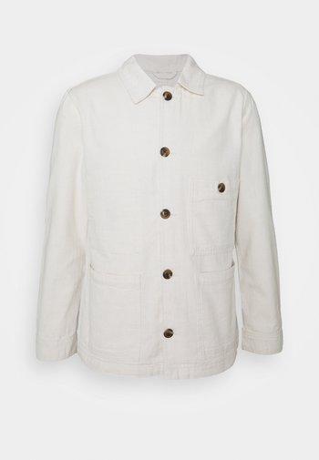 SLHWINSTED JACKET - Denim jacket - bone white