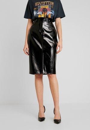 PCBELLA MIDI SKIRT - Pencil skirt - black