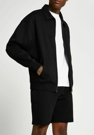 BLACK OVERSIZED SHACKET - Vest - black