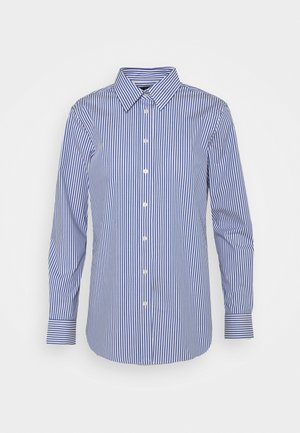 NON IRON SHIRT - Button-down blouse - blue/white