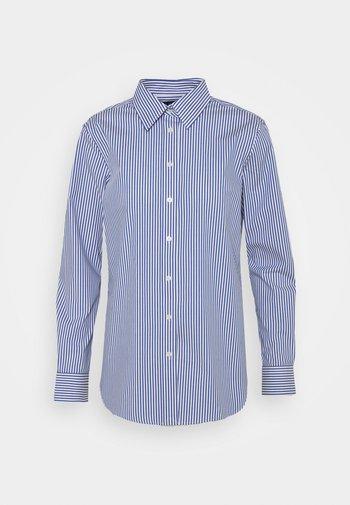 NON IRON SHIRT - Button-down blouse - blue/white