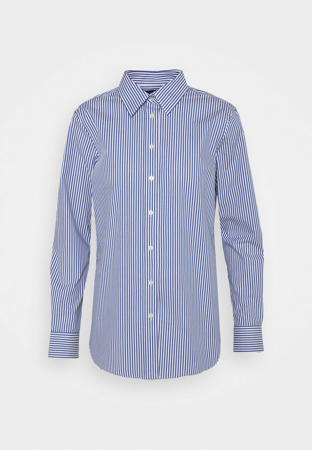 NON IRON SHIRT - Camicia - blue/white
