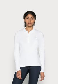 Tommy Hilfiger - HERITAGE LONG SLEEVE SLIM  - Polo shirt - classic white - 0