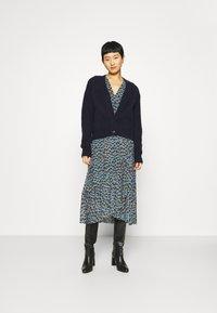 Fabienne Chapot - NATASJA FRILL DRESS - Day dress - dusty blue/taupe - 1