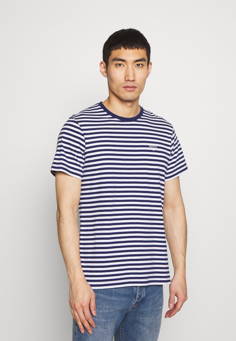 Barbour - DELAMERE STRIPE TEE - Print T-shirt - inky blue