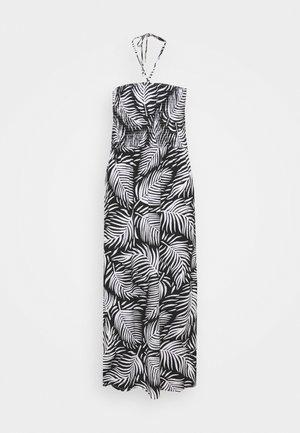 PRINT SHIRRED DRESS - Jerseyjurk - mono