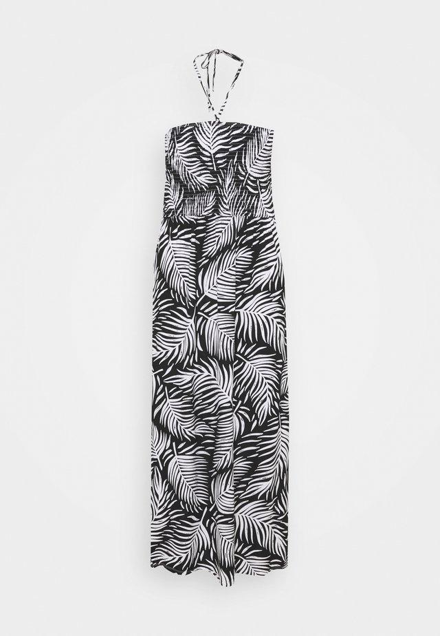 PRINT SHIRRED DRESS - Trikoomekko - mono