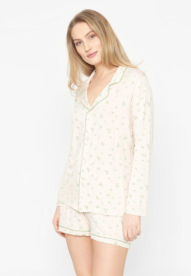 SET - Pyjama - pale rose aop