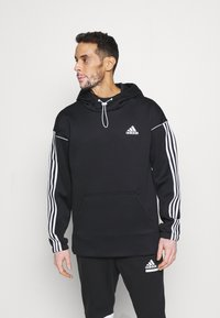 adidas Performance - AEROREADY  - Hoodie - black/white - 0