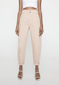 PULL&BEAR - Relaxed fit jeans - rose gold - 0