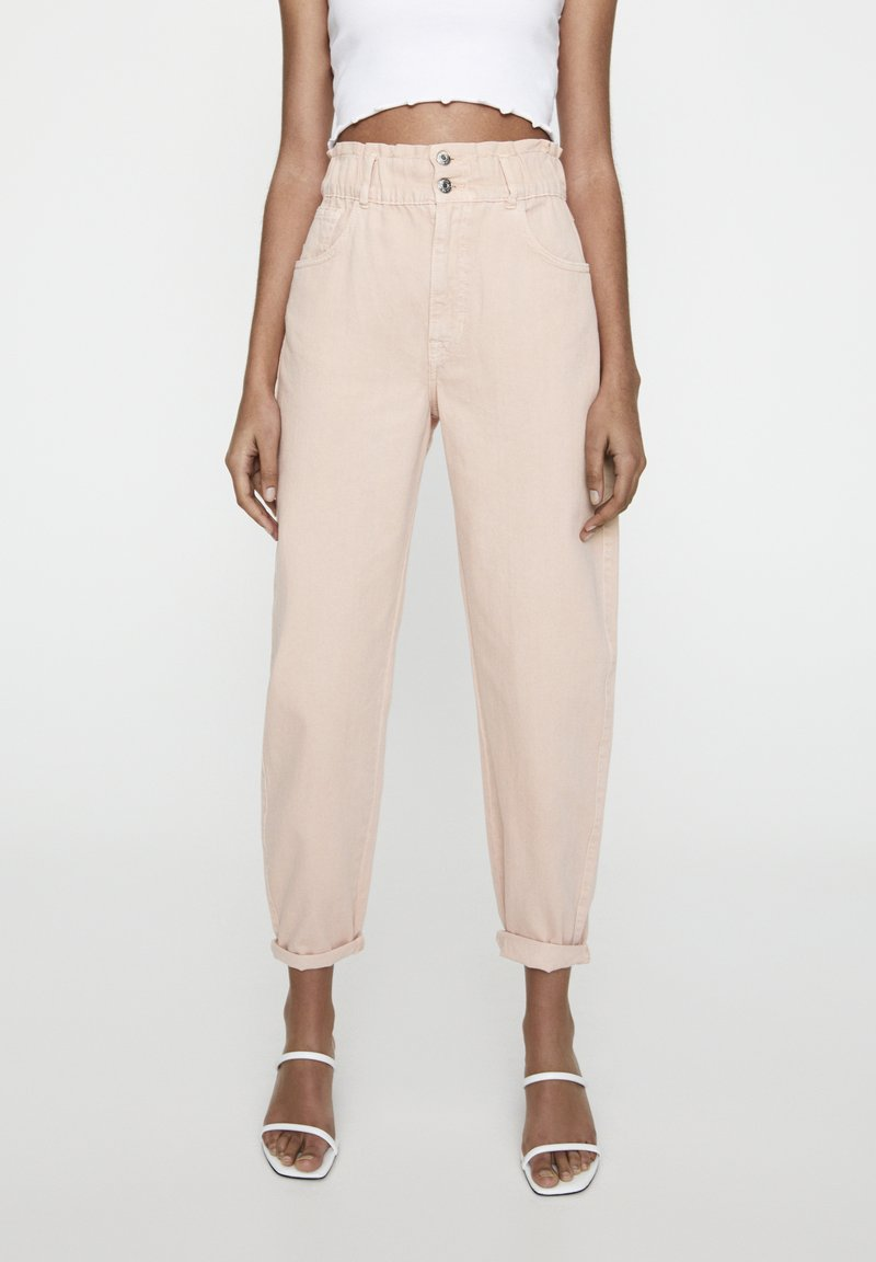 PULL&BEAR - Relaxed fit jeans - rose gold