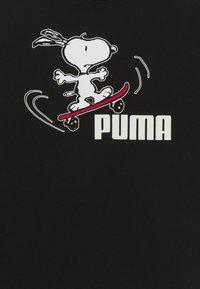 Puma - PEANUTS TEE UNISEX - Triko spotiskem - black - 2