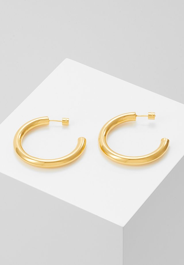 BASIC LARGE HOOP EARRINGS - Pendientes - gold-coloured