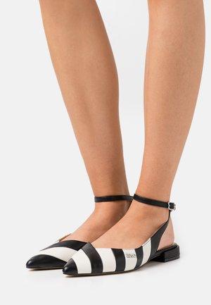 VIOLA - Slingback ballet pumps - black/white