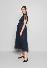 Anaya with love Maternity - KEYHOLE FRONT SHORT SLEEVE MIDI DRESS  - Occasion wear - navy - 0