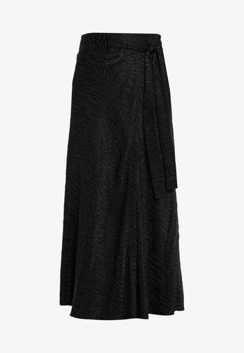 RUBY WRAP SKIRT - A-line skirt - black