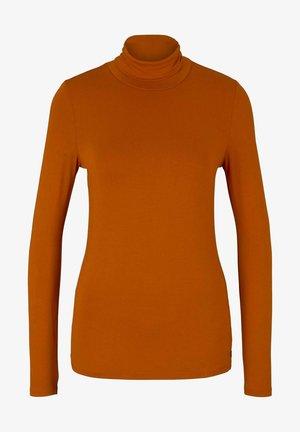 Long sleeved top - gold flame orange
