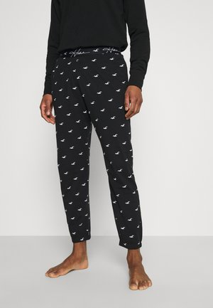 LOUNGE BOTTOM JOGGERS - Pyjama bottoms - black