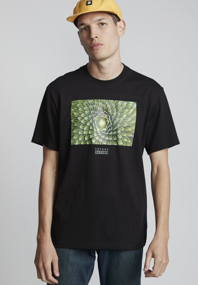 NATIONAL GEOGRAPHIC SPIRAL - T-shirt print - flint black