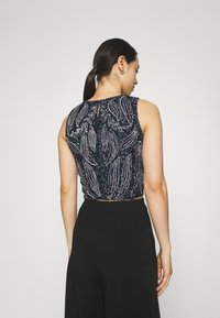Lace & Beads - PICASSO LEAF - Top - navy - 2