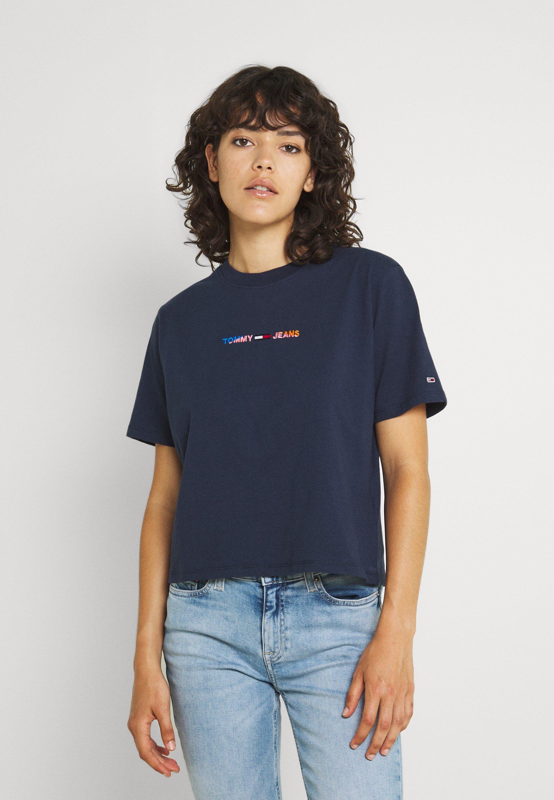 Women CROP MULTI LINEAR TEE - Print T-shirt