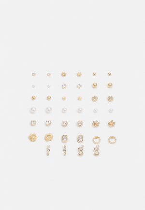 TRERALI 20 PACK - Örhänge - clear on/gold-coloured