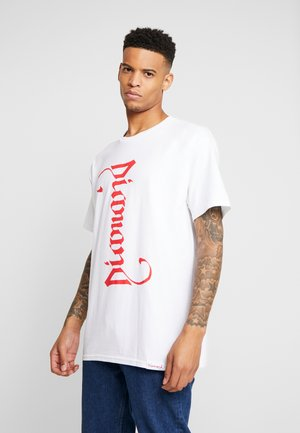 DOUBLE READ TEE - Print T-shirt - white