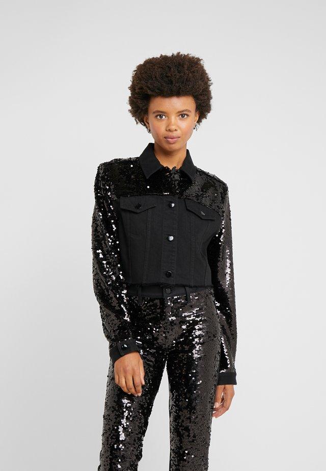 CROPPED CYRA JACKET - Jeansjakke - black