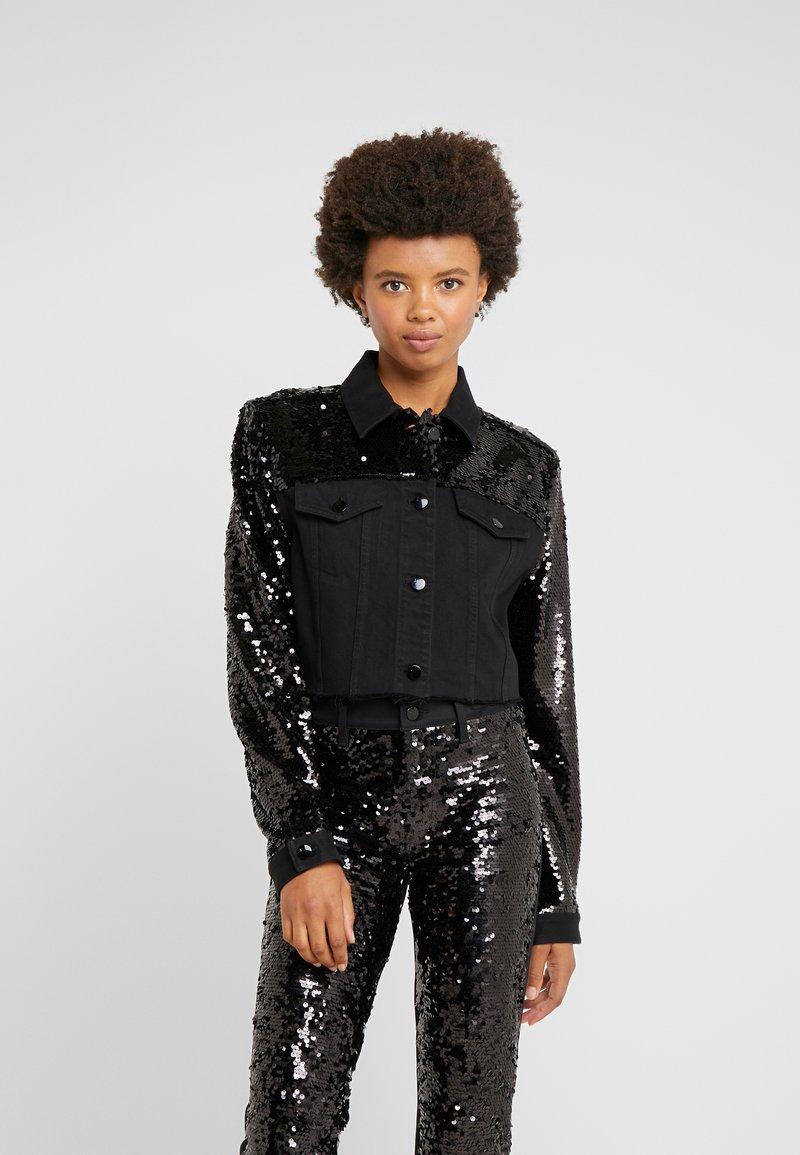 J Brand - CROPPED CYRA JACKET - Kurtka jeansowa - black