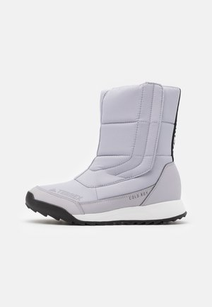 TERREX COLD.RDY SHOES - Vinterstøvler - glow grey/clear black/purple tint
