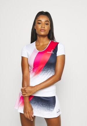AREZZO TEE - T-shirt print - white/pink