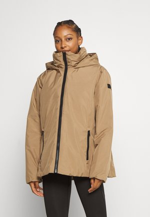 WOMAN JACKET FIX HOOD - Winter jacket - dune