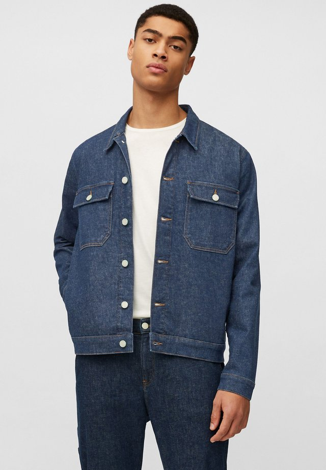 Denim jacket - multi/neppy blue raw