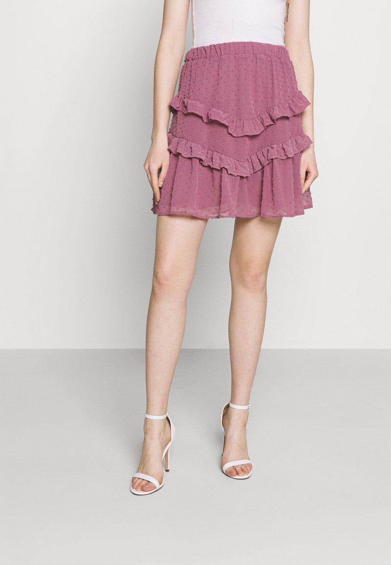 Trendyol - SIYAH - A-line skirt - lila