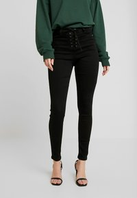 Missguided - VICE FRONT - Jeans Skinny Fit - black coated - 0
