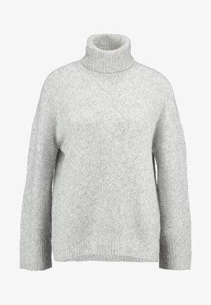 Strikkegenser - light grey melange
