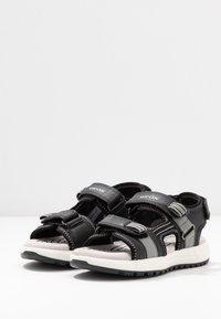 Geox - ALBEN BOY - Walking sandals - black/grey - 3