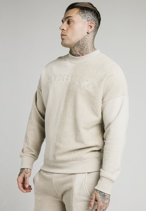 HALF CREW - Sweatshirt - stone