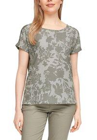 s.Oliver - T-shirt imprimé - khaki aop - 3