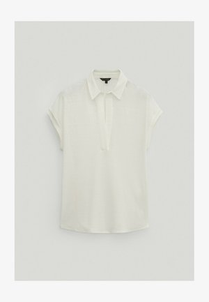MIT HEMDKRAGEN - Polo shirt - white